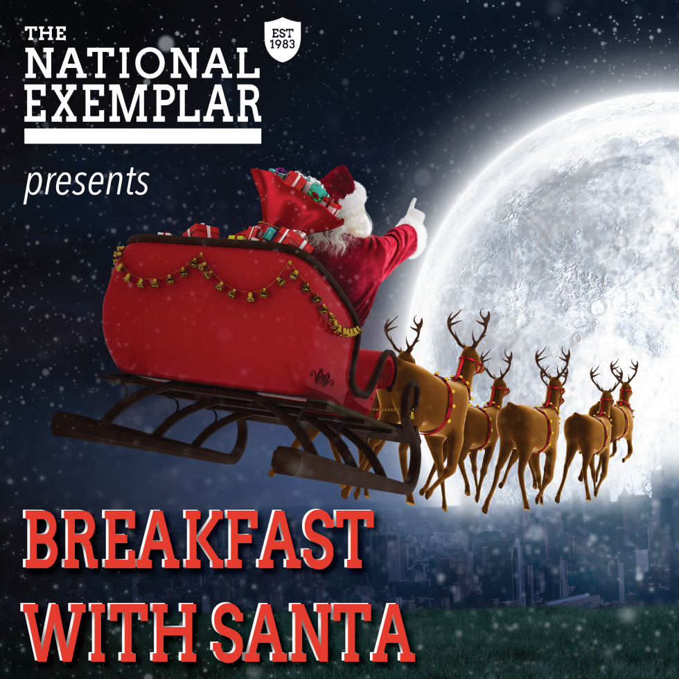 Santa is on his way to The National Exemplar!