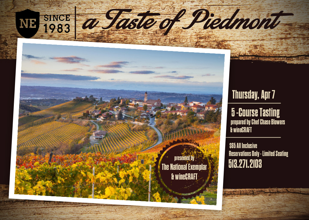 Wine Dinner:  Taste of Piedmont, Italy