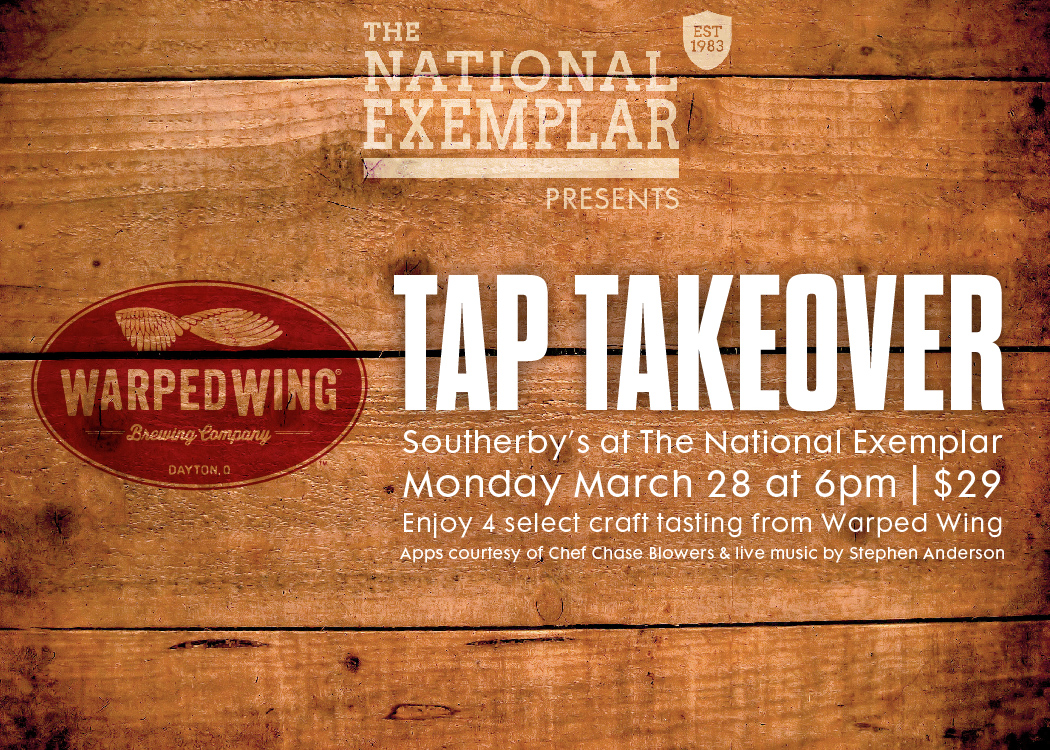 TAP TAKEOVER: Warped Wing Brewing Compnay